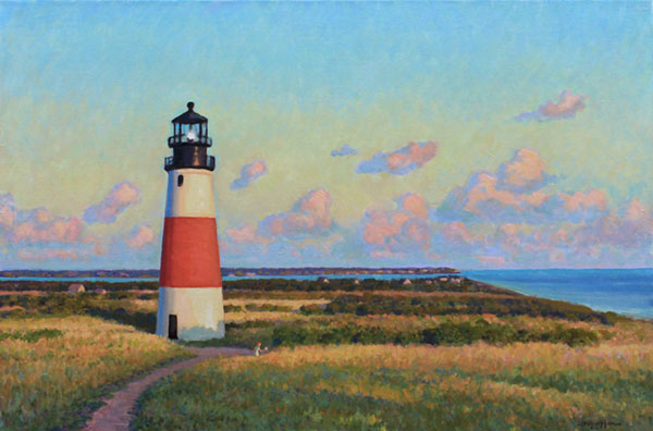 "Sankaty Lighthouse, Nantucket Island <br /> 24x36"" oil, commissioned"