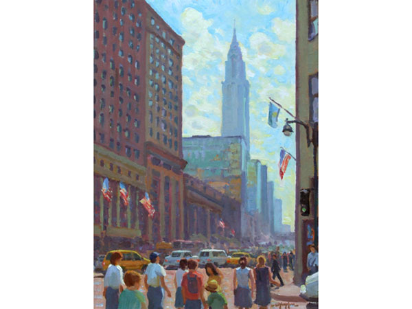 """Morning in Midtown"" <br /> 16x12"" oil --available-- #637"