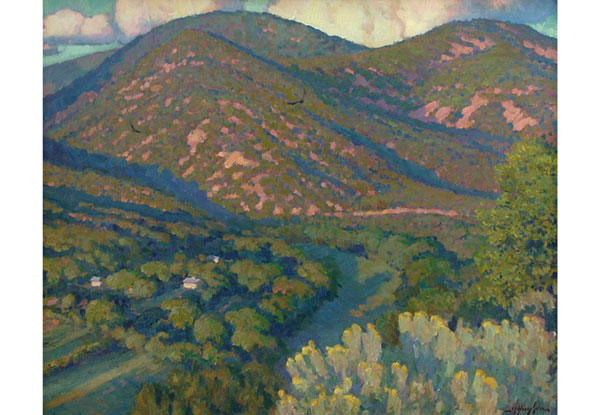 """Valdez Valley Sundown"" <br /> New Mexico <br /> 24x30"" oil --avaialable-- #F1020"