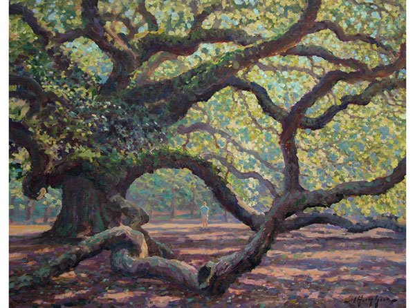 """Longevity & Brevity""<br /> The Angel Oak <br /> Charleston, S.C.<br /> 16x20 oil"