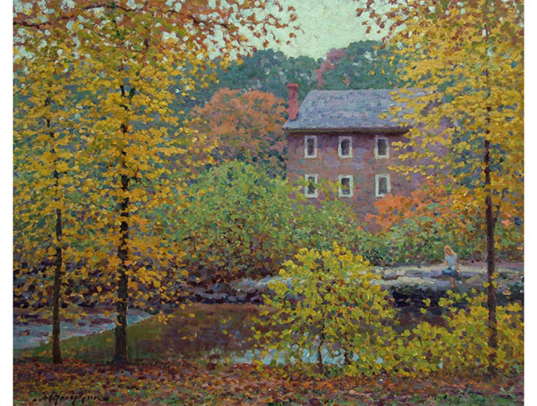 """Old Mill House"" <br />  Washington DC <br /> 16x20 oil"