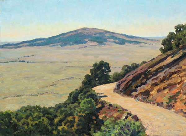 """View from the Volcano"" <br /> Capulin Mountain, New Mexico <br /> 12x16"" oil"