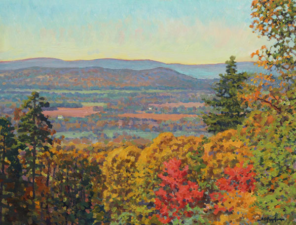 """Sugarloaf Mountain View"" <br /> 12x16"" oil - available - #1515 <br /> A westward vista from one of the first mountains west of the nation's Capital."