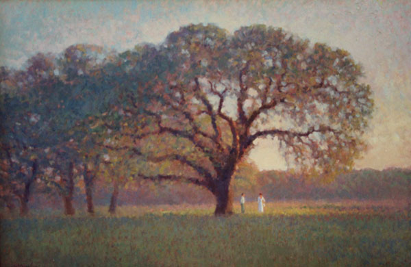 A Live Oak theme of Central Texas.  <br /> 24x36 oil on canvas