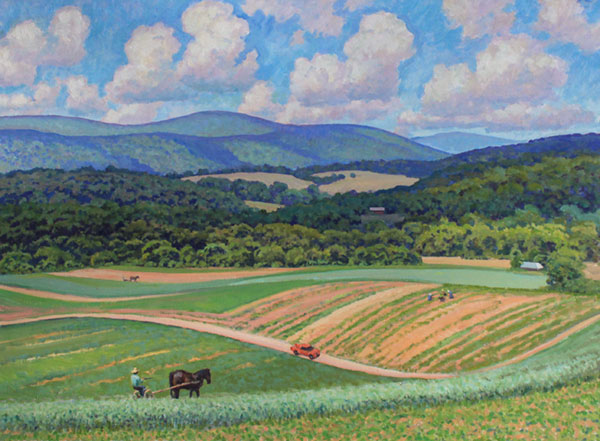 """Old Farming in Virginia"" <br /> Giles Co, VA <br /> 30x40"" oil"