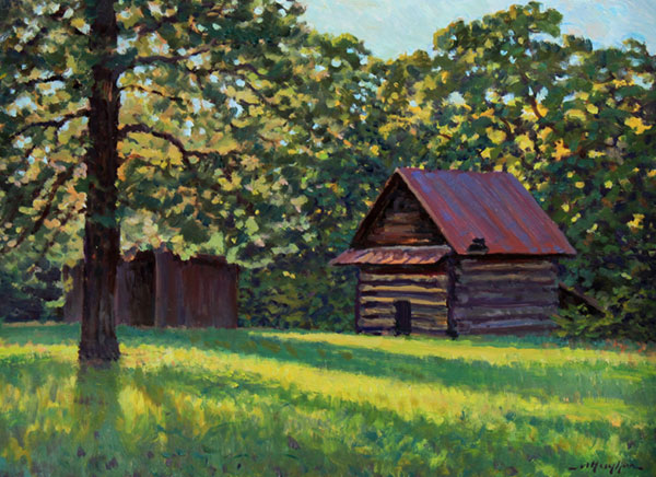 """The Tobacco Barn"" <br /> Ringgold, Virginia <br />  12x16"" oil --available-- #1333"