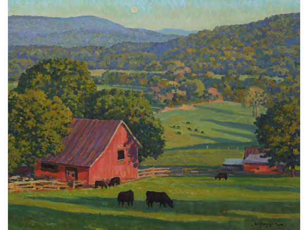 16x20 oil, Bundoran Farm in North Garden, Virginia