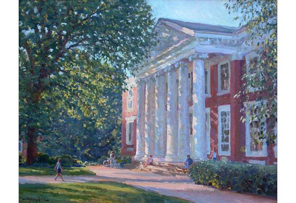 Cobb Hall, UVA <br /> 16x20 oil