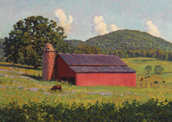 Summer Barn, Bundoran Farm <br />  12x16 oil