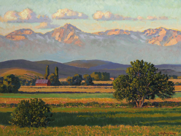 """Montrose at Morning"" <br /> Colorado <br /> 18x24"" oil ---available-- #907"