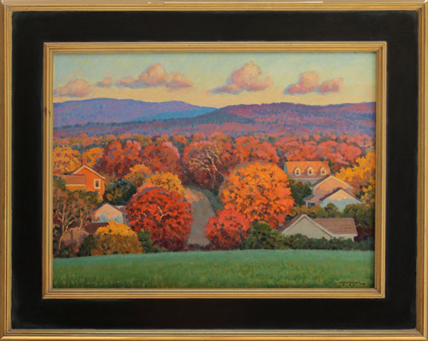 """Shenandoah Sundown in Autumn""<br /> 18x24"" oil --available-- #914"
