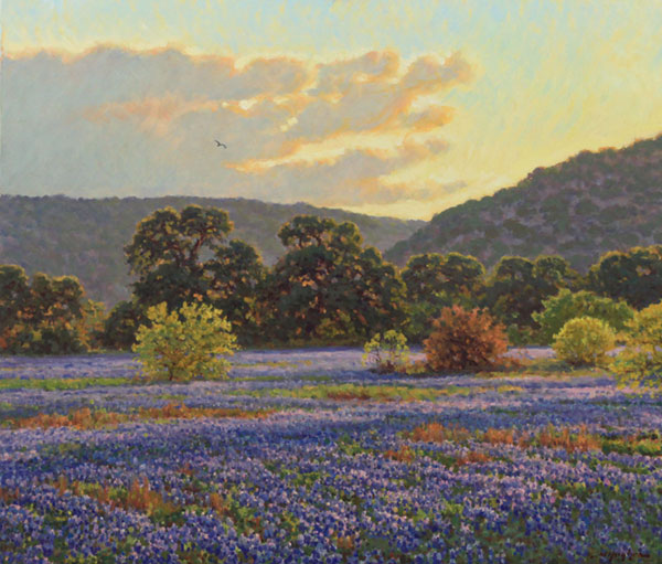 """Texas Evening in Spring"" <br /> 30x34"" oil --sold-- #F1113"