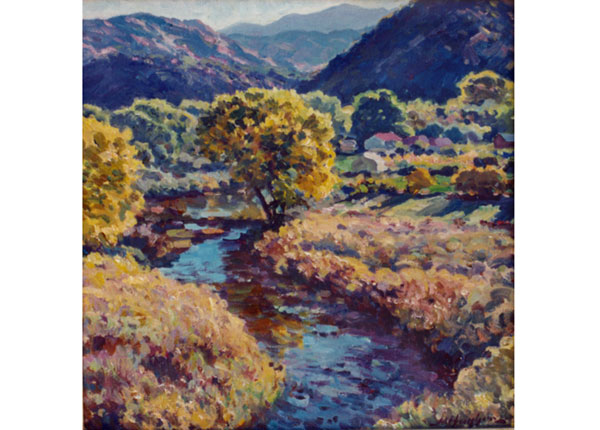 Rio Grande in Autumn <br /> Rinconada, New Mexico <br /> 12x12 oil