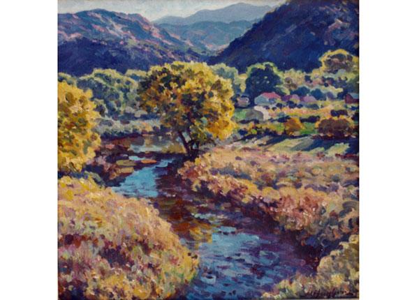 Rio Grande in Autumn <br /> Rinconada, New Mexico <br /> 12x12 oil