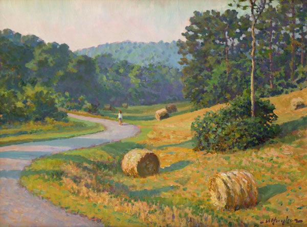 """Stroll Through a Summer Morning"" <br /> 12x16"" oil - available - #805 <br />"
