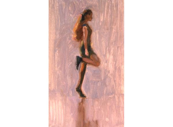 Irish Dancer <br /> small oil sketch