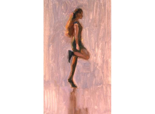 Irish Dancer <br /> small oil sketch