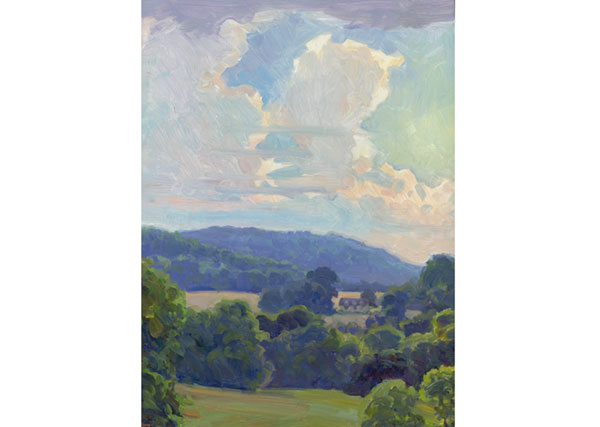 Summer Thunderhead, North Garden, Virginia <br /> 14x12 oil